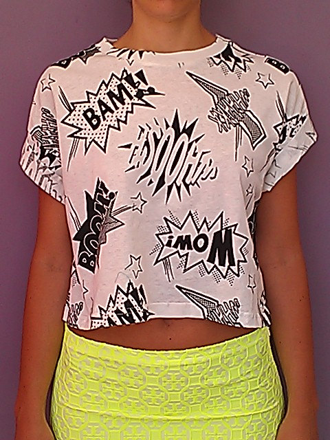 Sale item boom bam wow cropped top by chedeliko on etsy