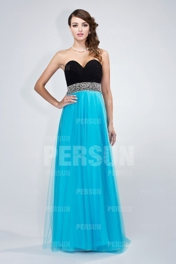 Chic Backless Blue Tone Tulle Formal Dress [PPDA0075]- AU$           163.24 - DressesMallAU.com
