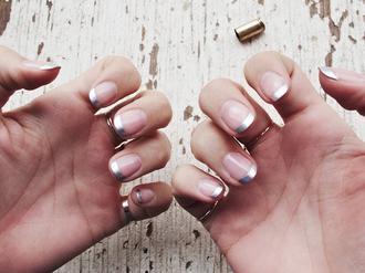 nail polish tumblr nail art nails metallic nails nail stickers
