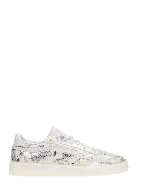 reebok classic sneakers silver leather shoes