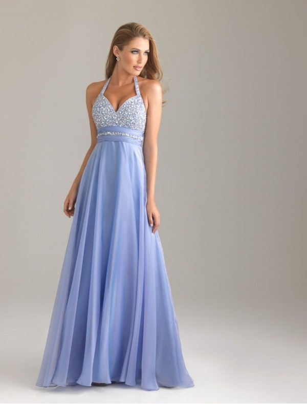 Chiffon Sweetheart Neckline Column Prom Dress with Lavish Beading Bodice - Special Occasion - RainingBlossoms