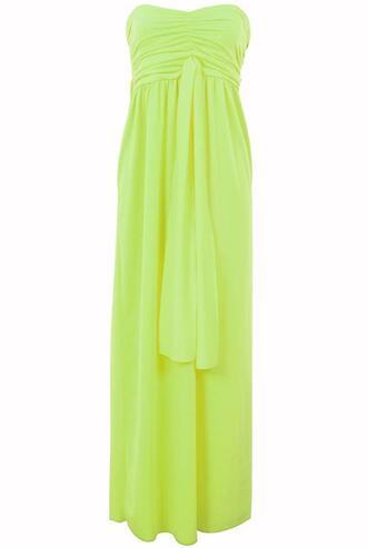 dress purpleroseboutique neon maxi dress yellow summer fashion only way is essex long dress strapless dress essex boutique