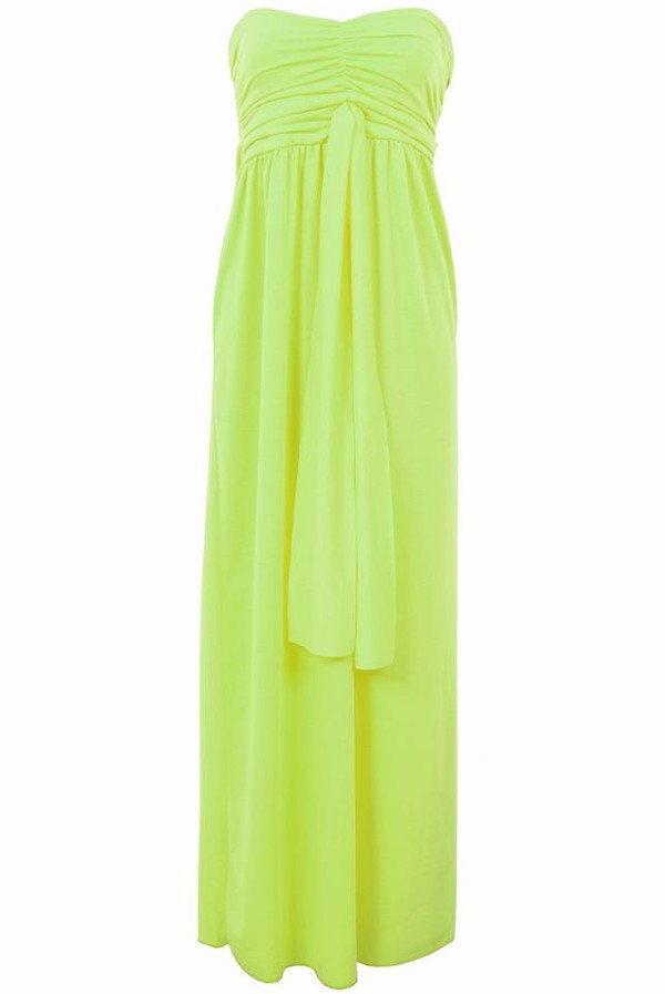 dress purpleroseboutique neon maxi dress yellow summer fashion only way is essex long dress strapless dress essex boutique
