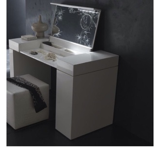home accessory vanity set white vanity makeup table make-up tumblr bedroom white