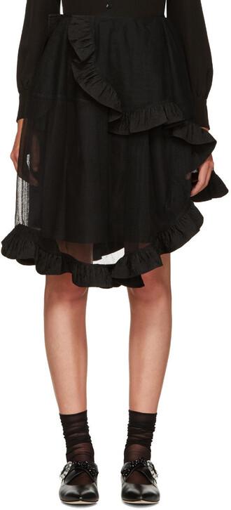 skirt wrap skirt sheer black