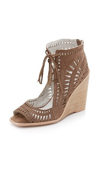 sandals wedge sandals taupe shoes