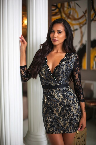 dress sexy black lace dress beautiful holt holtmiami fashion clothes party dress black party dress little black dress