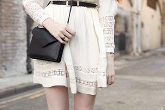 clothes dress white dress long sleeve dress cute dress cute lace
