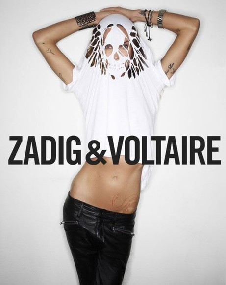 shirt white holes skelleton diy zadig voltaire