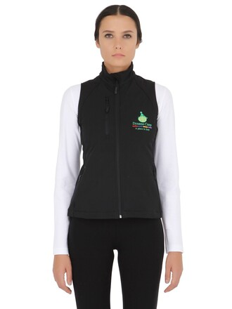 vest shell soft black jacket