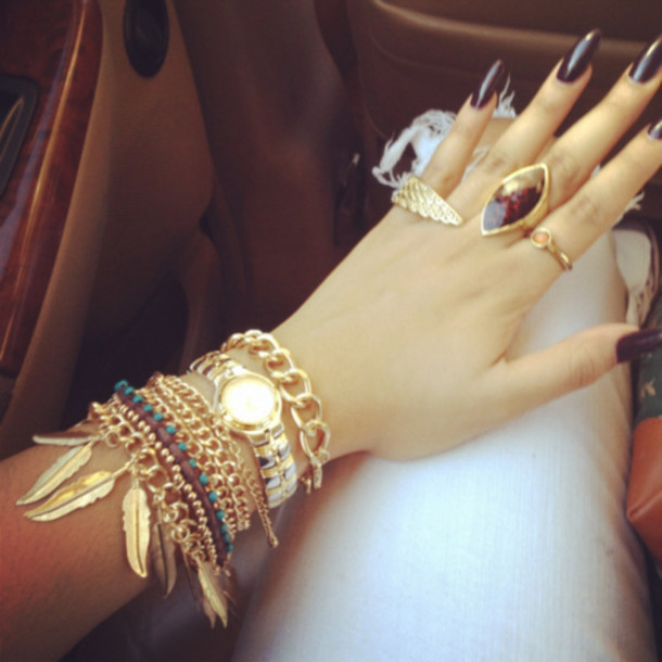 jewels ring gold bracelet