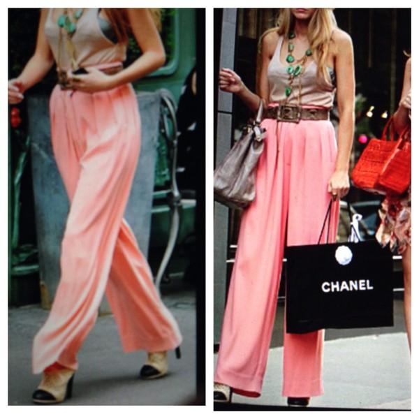 pants high waisted pants boho pants pink