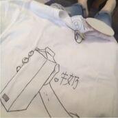 shirt,milk,asian,japanese,aesthetic,tumblr,grung,soft,soft grunge,cute,black,white,art,grunge,pale,aesthetic tumblr,t-shirt
