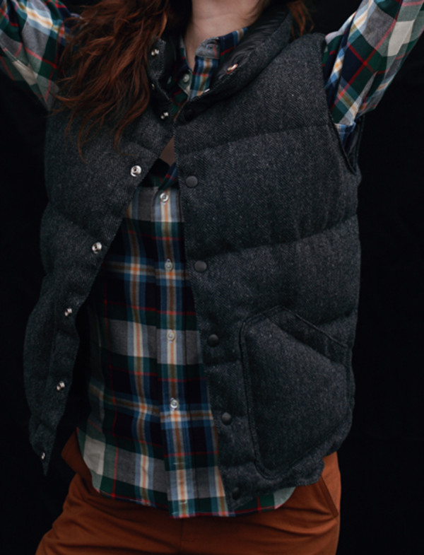 coat herringbone vest puffer vest down vest outerwear jacket