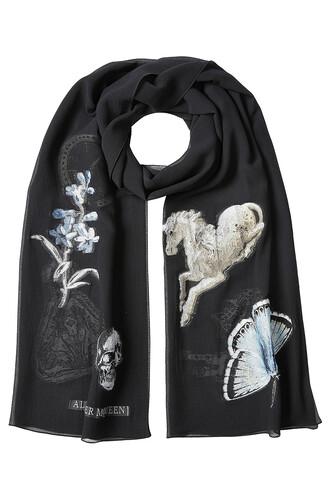 scarf silk scarf silk black
