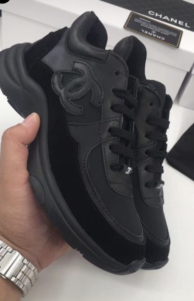 Shoes Chanel Black Sneakers Women Wheretoget