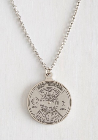 jewels sun moon grunge pale necklace pale grunge jewelery indie silver science moon necklace