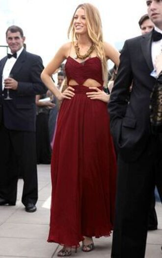 dress gossip girl serena red style serena van der woodsen blake lively dress long