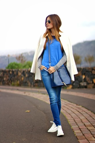 blue bag fashion blue bag amazing outfit outfit white pretty outfit