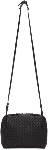 Bottega Veneta Black Intrecciato Nudini Messenger Bag