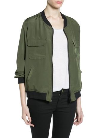 jacket reversible bomber jacket bomber jacket khaki mango