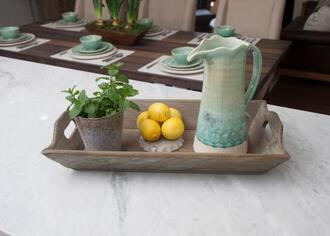 home accessory green blue ceramic pitcher kitchen