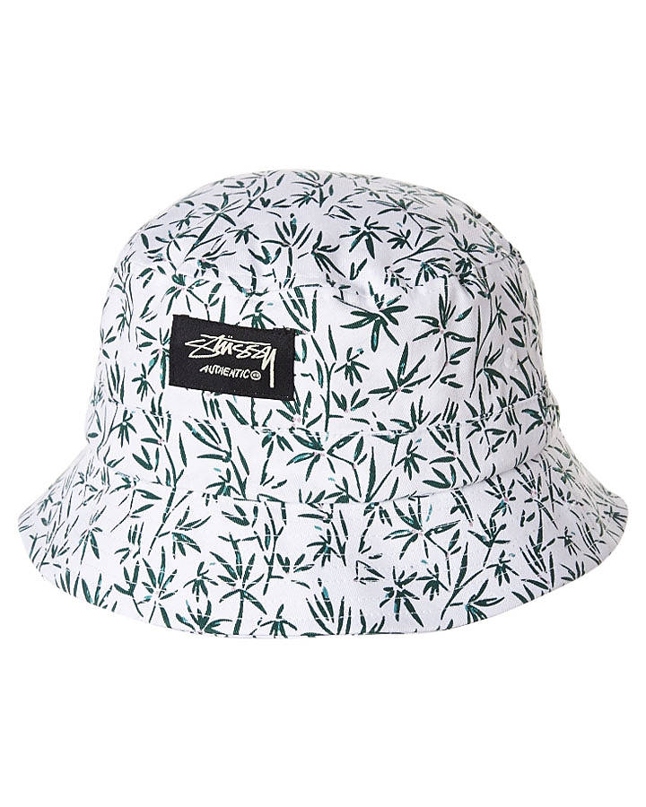 bc0d60bc51ce0 STUSSY BIRDS BUCKET HAT - WHITE