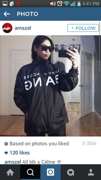 jacket black jacket black bang windbreaker