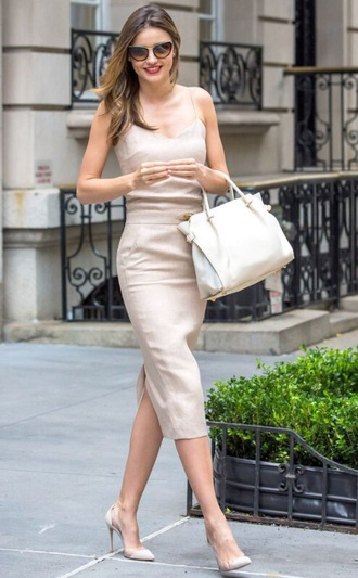 bag classy nude dress leather bag