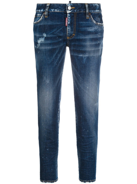 Dsquared2 jeans cropped jeans cropped women spandex cotton blue