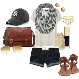 scarf navy stripes hat baseball cap new york city baseball cap shoes jeans bag leather leather bag brown leather bag satchel cute vintage oxfords buckles worn