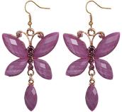 jewels,candy luxx,butterfly earrings,dangle earrings,beaded earrings,rhinestone earrings