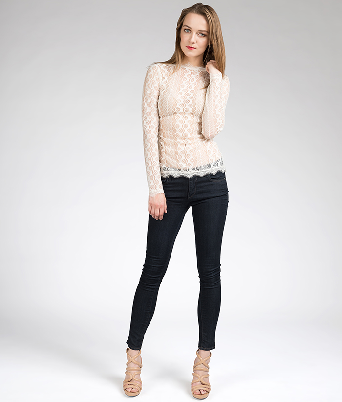 Lola Top -- Ivory Lace