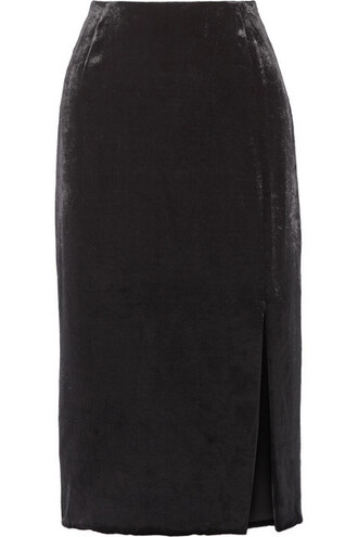 skirt midi skirt midi black velvet