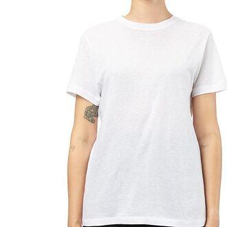 t-shirt shirt top white cotton minimalist monochrome basic sustainable short sleeve short sleeve tee short sleeve t shirt saul made in los angeles