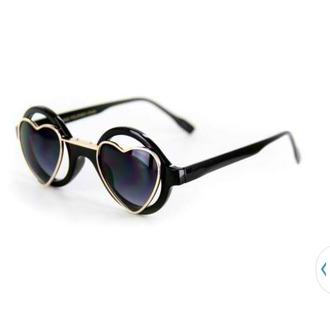 sunglasses heart sunglasses heart pretty vintage black cute girly chic stylish style