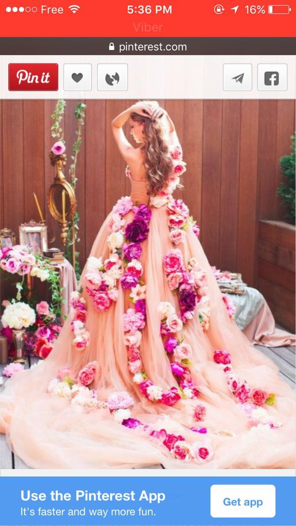 dress, princess wedding dresses, wedding dress, bridal gown, flowers ...