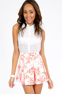 Floral It's Worth Skater Skirt - Tobi