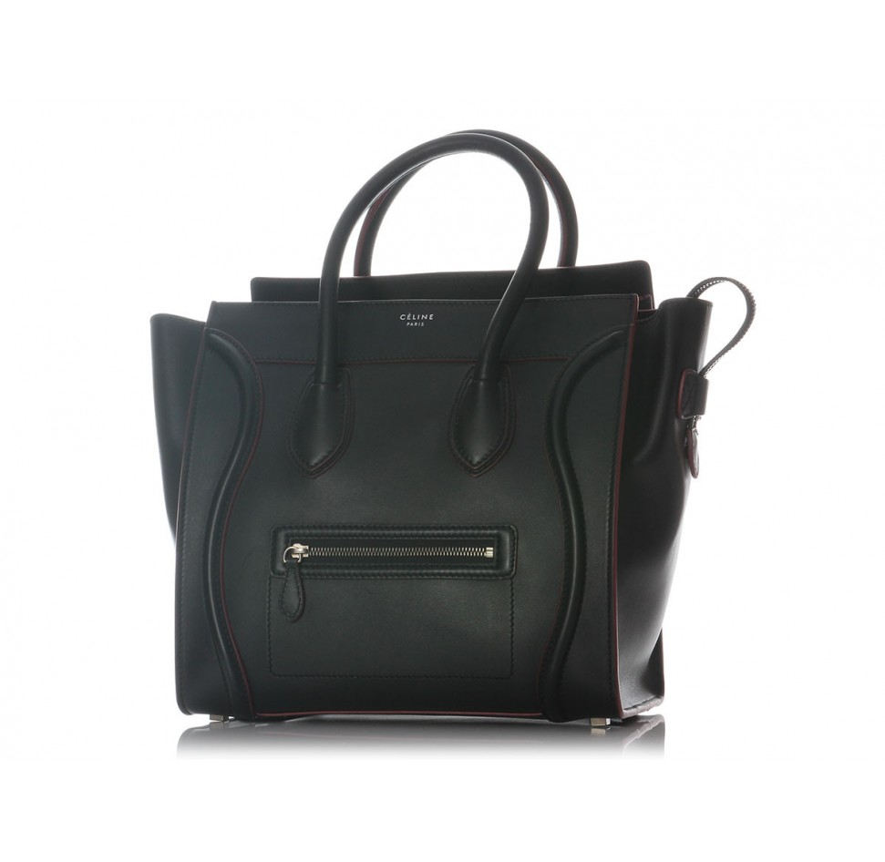 Céline black mini luggage