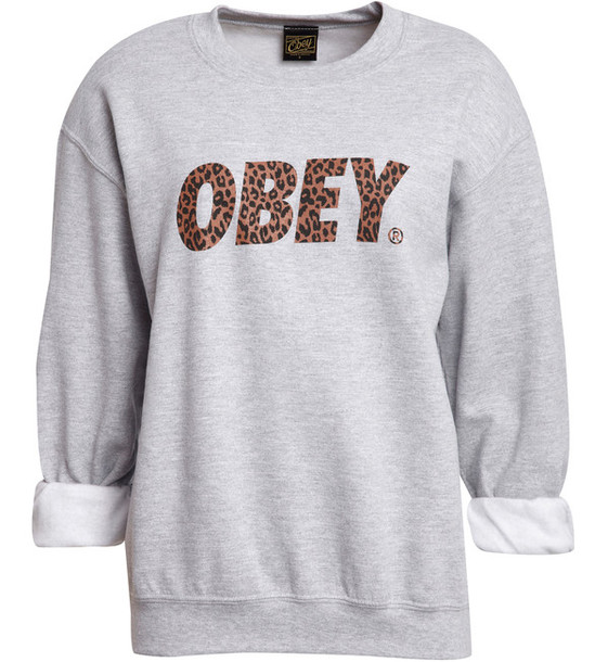sweater, obey - Wheretoget
