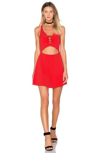 dress mini dress mini love lace red