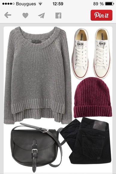 grey sweater sweater grey