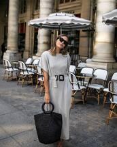 dress,maxi dress,black bag,oversized,knitted dress