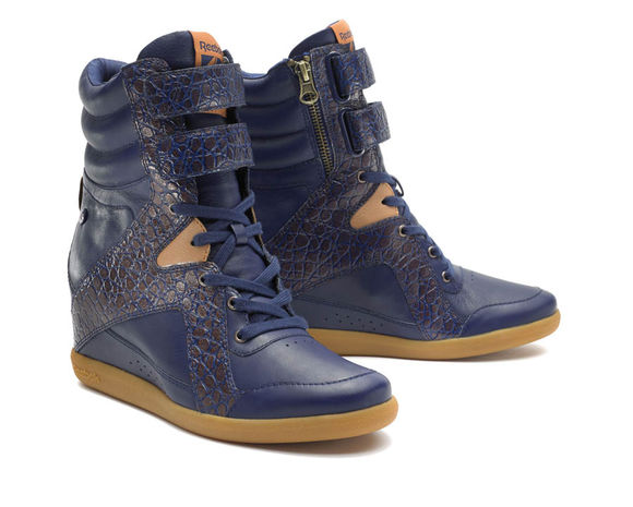 shoes Reebok wedges alicia keys blue shoes crocodile skin