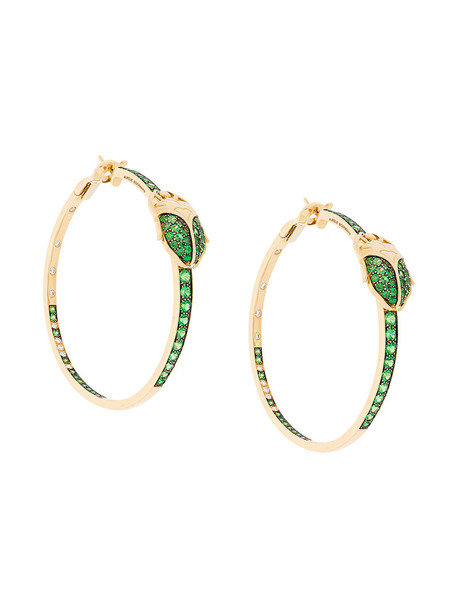 AURELIE BIDERMANN women couture earrings gold grey metallic jewels
