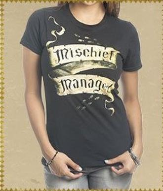 t-shirt mischief managed harry potter geek