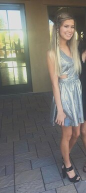 dress,tess almighty,homecoming,silver dress,party dress