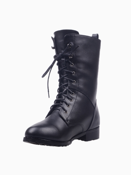 Black Lace Up Boots | Choies