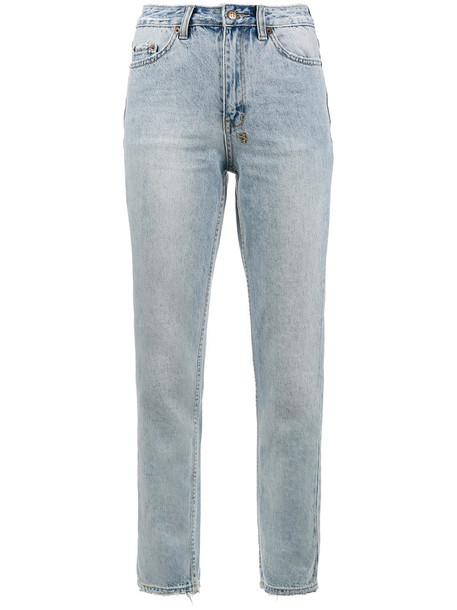 Ksubi - slim pin washed out jeans - women - Cotton - 26, Blue, Cotton