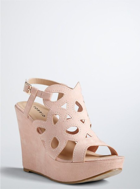 323880dfebc shoes wide fit shoes wide fit wide shoes wedges wedge sandals blush pink  ankle strap